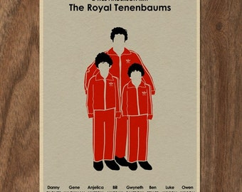 Wes Anderson Movie Poster THE ROYAL TENENBAUMS 16x12 Print