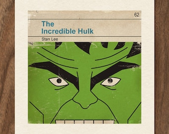 6x6 Classic Vintage Marvel Penguin Book Cover Print - The Incredible Hulk