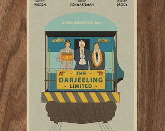 The Darjeeling Limited 16x12 Wes Anderson Movie Poster Print