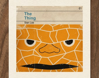 6x6 Classic Vintage Marvel Penguin Book Cover Print - The Thing