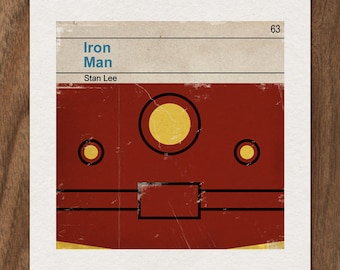 6x6 Classic Vintage Marvel Penguin Book Cover Print - Iron Man