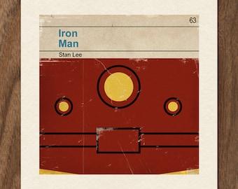 Classic Vintage Marvel Penguin Book Cover Print - Iron Man