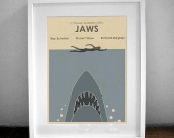 JAWS 16x12 Minimalist Movie Poster