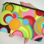 Bright Little Zipper Pouch Coin Purse Padded ECO Friendly  Inspiration Circles LIMITED Item