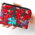 Small Coin Purse Little Zipper Pouch ECO Friendly Padded Little Zippered Pouch NEW Floral Flourish