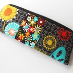 Long Zipper Pouch Large Cosmetic Bag Pencil Case Clutch Purse ECO Friendly Padded NEW Aplenty with Posey Combo
