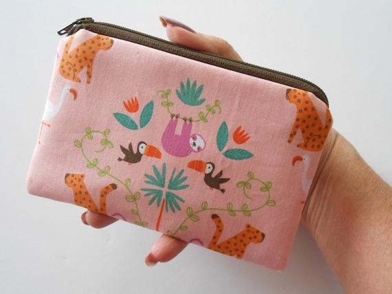 Padded Zip Pouch purse Gadget Coin Case Pouch Hummingbirds Butterflies Dragonflies print groovy gurls groovygurls