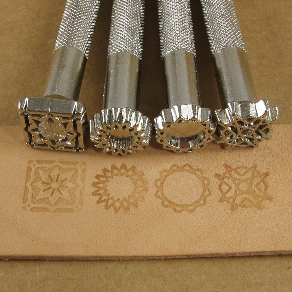 Spiral Designs Leather Stamp Set Of Four Metal Stamps