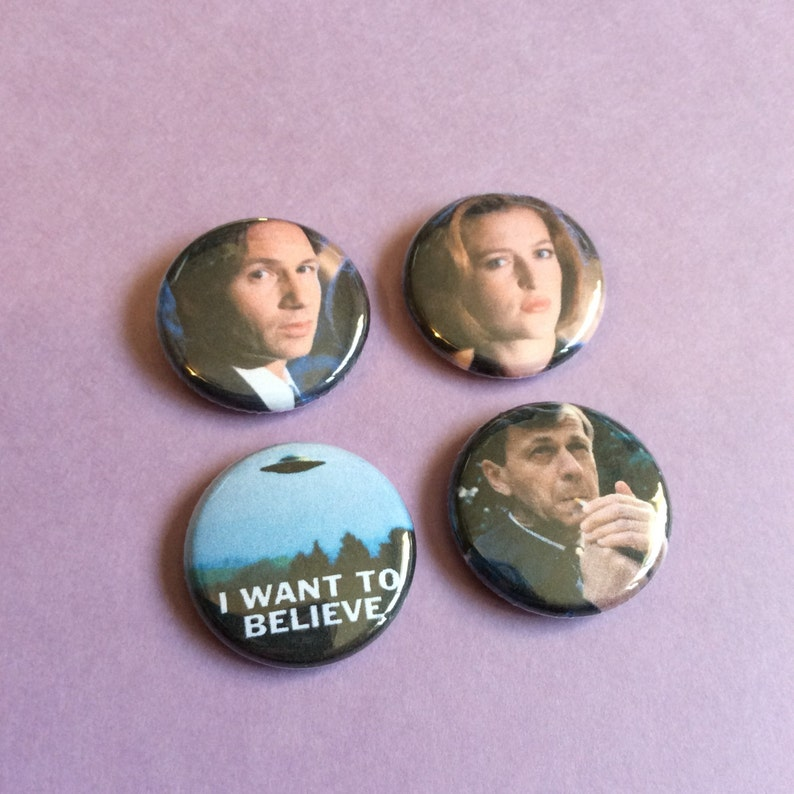 X-Files Pin Pack  One Inch Pinback Buttons image 0