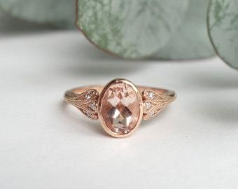 Triple Petal Morganite Ring