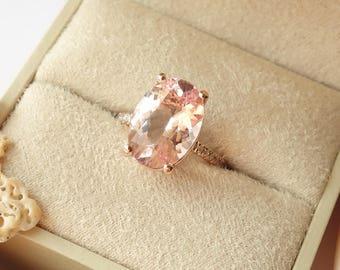 Oval Morganite and Diamond Ring - deposit