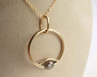 Diamond Eclipse Necklace