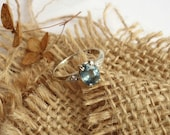 Serena - Misty Blue Sapphire Ring