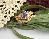 Ainsley - Purple Sapphire Vine Ring Set