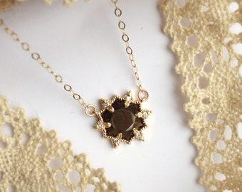 Sapphire Snowflake Necklace