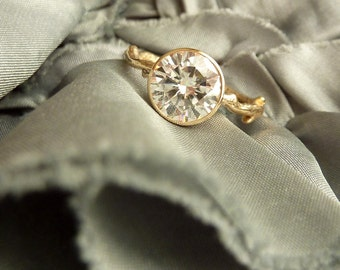 Moissanite Solitaire Branch Ring - 8mm - Deposit