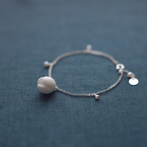 Ceramic pearl bracelet