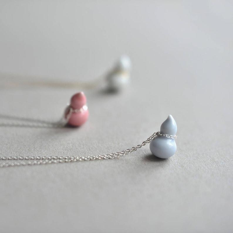 Pumpkin necklace Ceramic necklace Porcelain necklace Nature image 0