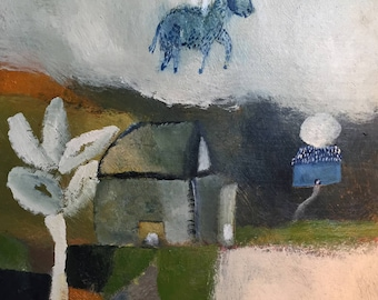 Once we left a farm, an original painting