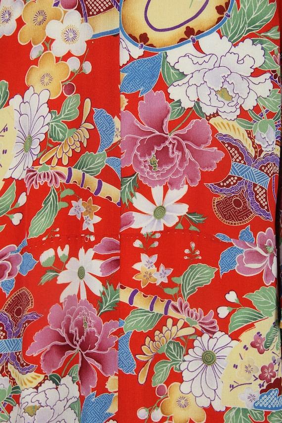 1930s embroidered kimono | silk robe | floral jub… - image 4
