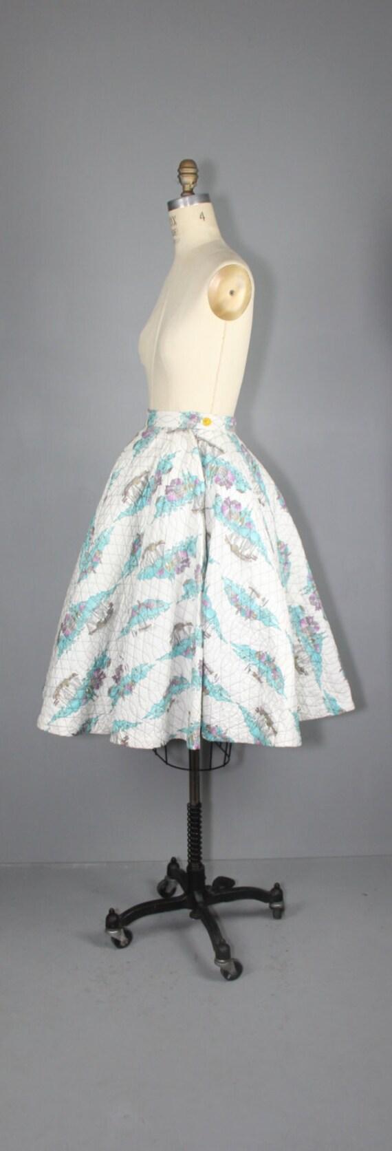 1950s skirt / circle skirt / novelty print / COAS… - image 4