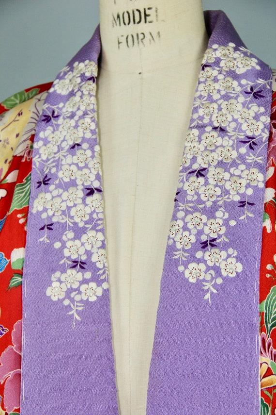 1930s embroidered kimono | silk robe | floral jub… - image 2