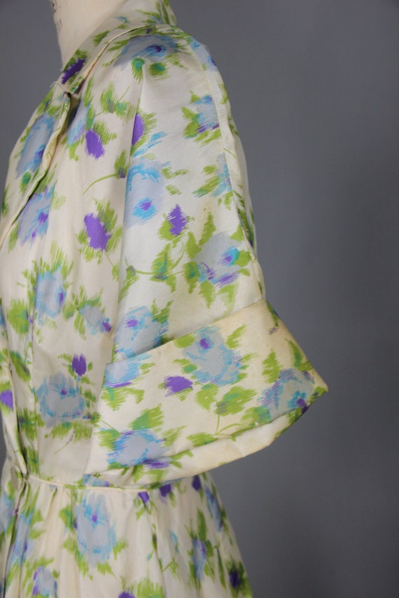 1940s robe / silk robe / dressing gown / SUGAR PL… - image 5