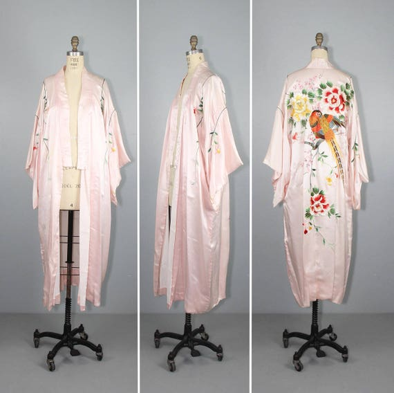vintage kimono / embroidered / WINGED CREATURES /