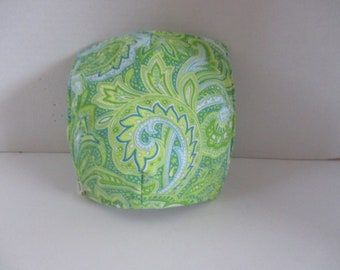 Bowl cozy, microwave bowl cozy, greens, blues, kitchen, kitchen and dining, microwave hot pad, microwave safe, bowl holder, hot pad,