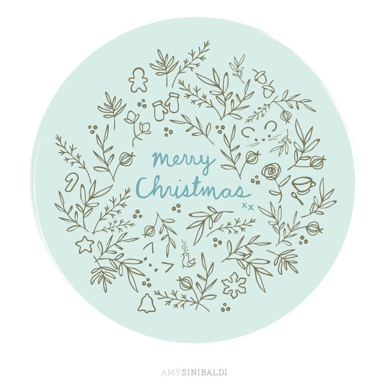 Christmas Joy embroidery PDF pattern image 0