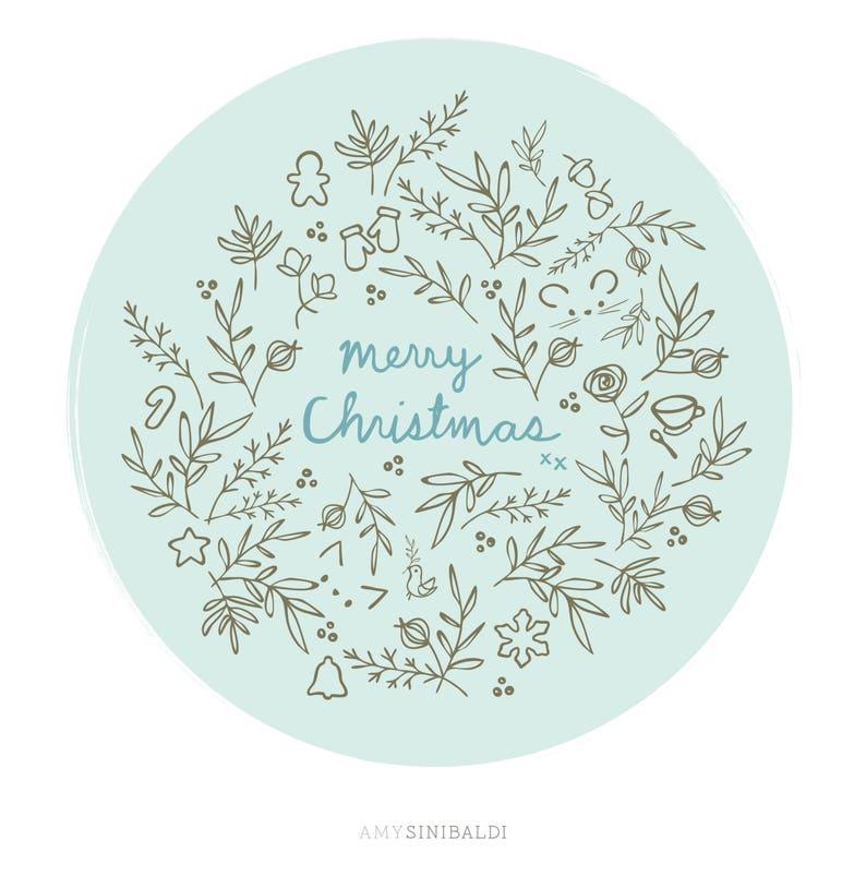 Christmas Joy embroidery PDF pattern image 1