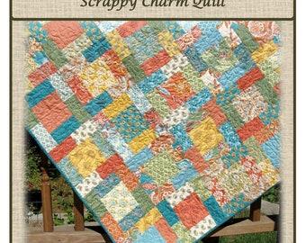 PDF Quilt Pattern Labyrinth Scrappy Charm Squares Carlene Westberg Designs