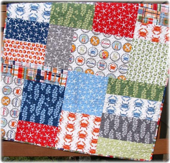 Pdf Quilt Pattern Seaworthy Modern Big Block Quilt Pattern Etsy