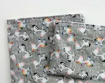Rainbow Zebra Reusable Snack bags, sandwich bags, BPA free Zero waste Kids snacks, Eco-friendly kitchen, less plastic lunch bag