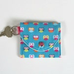 Coin Purse with Little Owls, Mini Wallet, Keychain Wallet for Women, Girls and Kids