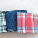 Special order Cotton wallet in Butterfly fabric, Reserved for Tyler