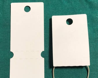 Your Color Choice 25 Fold Over Display Cards, You Pick the Color, Jewelry Card, Necklace Hang Card, Price Tag Hang Tag, ID Hang Tag