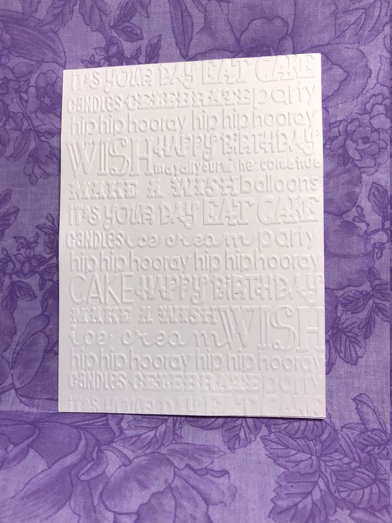 Thank You 4 Embossed Cards All Occasion White Cardstock Hello Envelopes Included Well Done Birthday