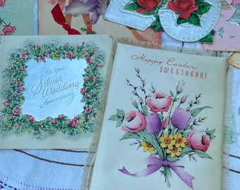 Lot of vintage 25th silver anniversary bells weddings greeting cards