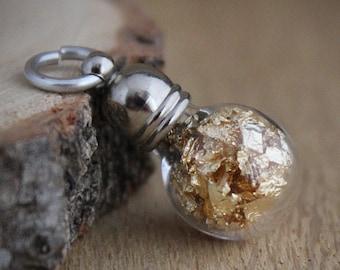 Gold foil pendant, hobby supply, charm, gold metal terrarium, minimalist, modern, keepsake, gold foil charm, geology, Netherlands