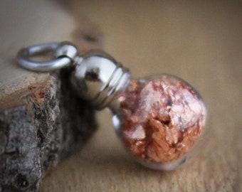 Copper foil pendant, hobby supply, charm, Copper metal terrarium, minimalist, modern, keepsake, copper charm, geology, Netherlands