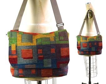 Tapestry Messenger Bag Vintage 90s