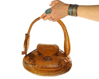 cf417a4f7e57 RESERVED Armadillo Purse Vintage 50s Genuine Taxidermy Handbag Excellent  Condition Full Body Armadillo Bag Handmade Tooled Leather