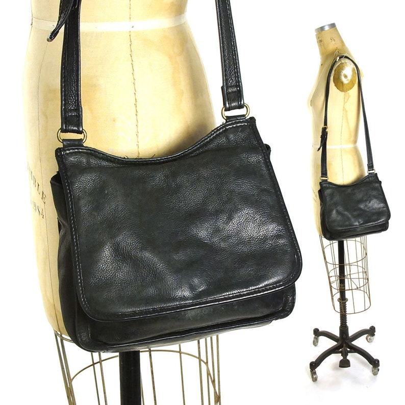 Leather Fossil Purse Vintage 90s Medium Size Distressed Boho  cc059ff82b012