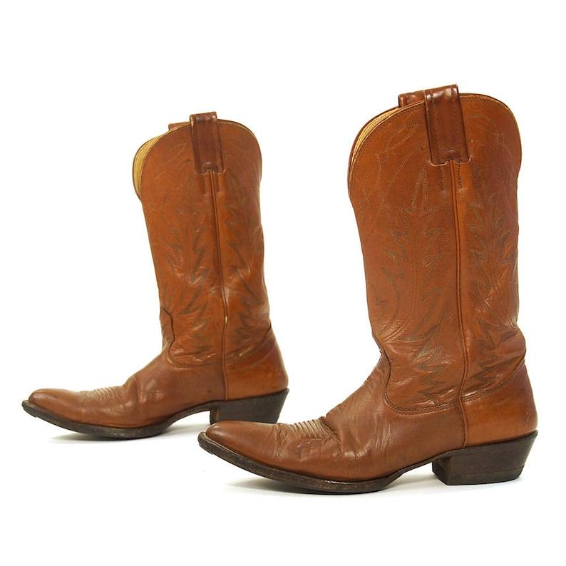 e5429801d67 Nocona Cowboy Boots Vintage Western Motorcycle Riding Boots Women's Size 10