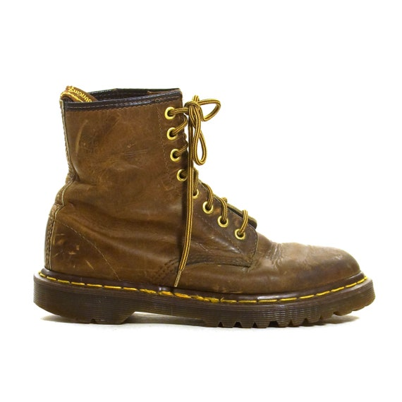bad656003fbe Dr Marten Lace Up Ankle Boots Vintage Brown Leather Docs Made