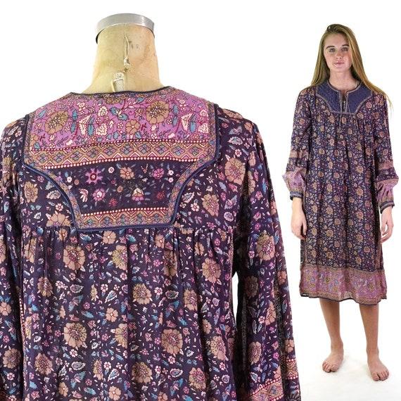 Indian Cotton Gauze Dress with Quilting Size Mediu