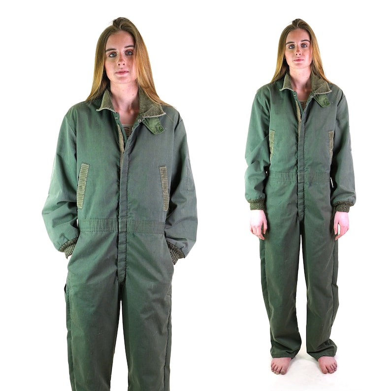 Sears Army Green Lined Coveralls 46 Chest