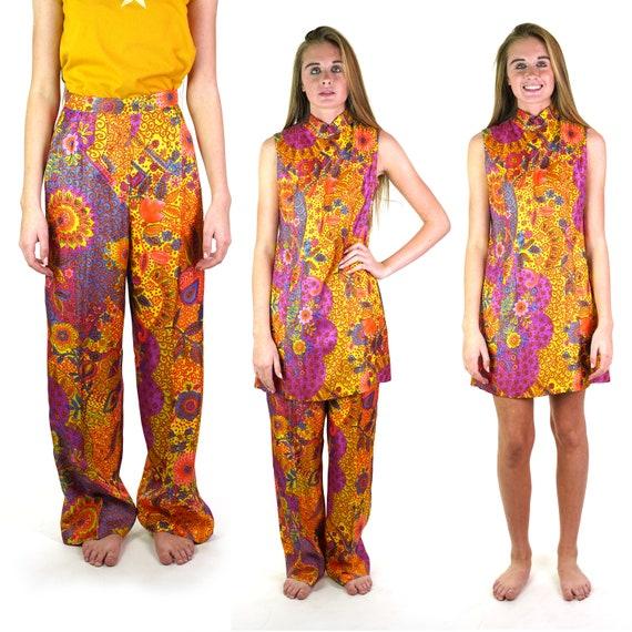 Bloomingdale's Mod Boho Hippie Dress and Pants Lou