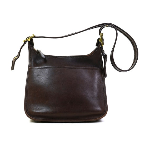 Coach Leather Shoulder Bag in Chocolate Brown Vint